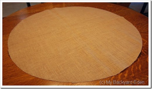round burlap table runner