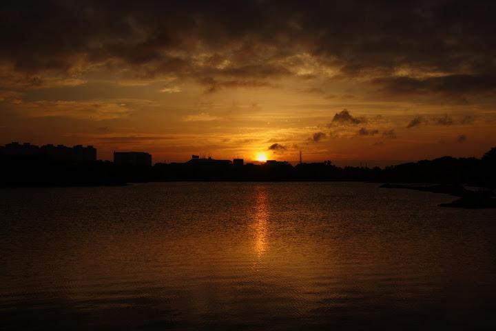 Sunrise View at Hebbal Lake