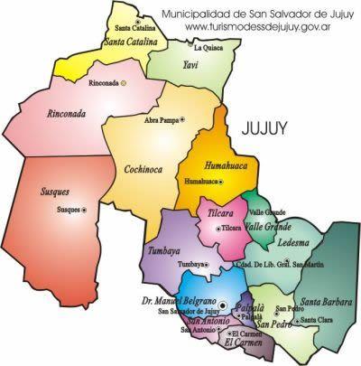 Resultado de imagen para mapa de la provincia de jujuy