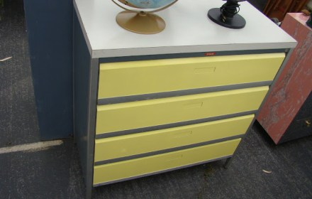 the estate of things chooses vintage metal laboratory chest