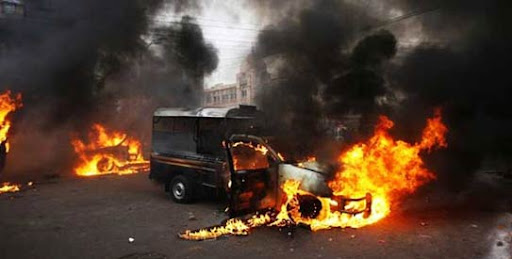 Suicide attack at police mobile squad in Karachi
