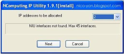 Cara buat IP address berbeda di setiap client NComputing