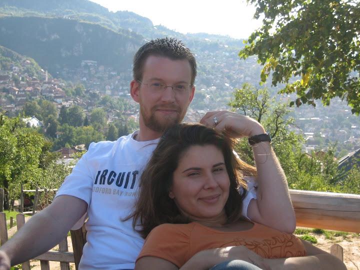 Ben and Ivana at Cafe Biban
