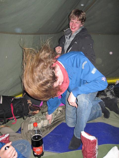 Headbanging in the tent