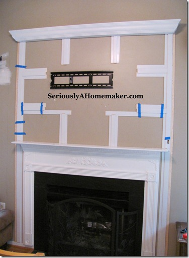 hiding tv cords in trim step 4
