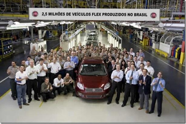 Fiat flex 2, 5 milhões
