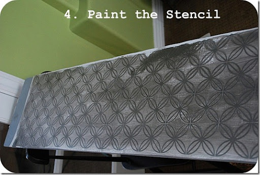 paint the stencil