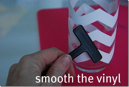 smooth the vinyl