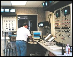Fig. 1. Control room for batching equipment in a typical ready mixed concrete plant.