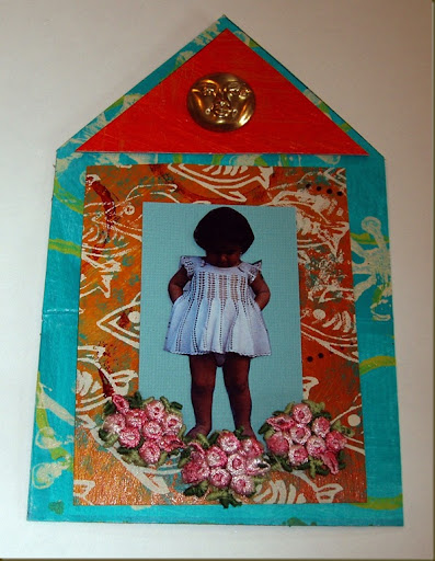 house collage with embellishments