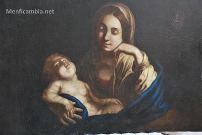 La madonna col bambino dormiente
