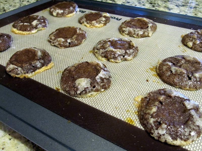 chocolate cookies after baking