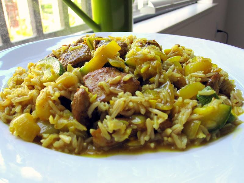 squash and chicken weeknight dinner dish
