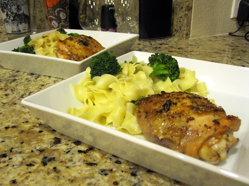 chicken thighs and pasta with lemon sauce
