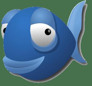 La mascota del editor Bluefish