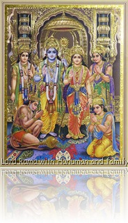 Lord Rama with Hanuman and family