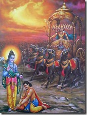 Vibhishana coming to Lord Rama