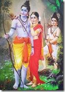 Sita Rama Lakshmana in the forest
