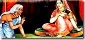 Manthara speaking to Kaikeyi