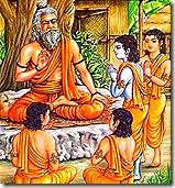Guru giving instruction