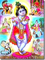 Krishna and His pastimes