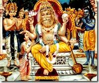 Narasimha Deva blesses Prahlada