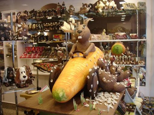Chocolade versiering in Brugge