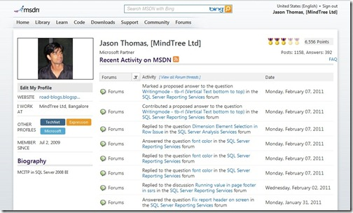 1 year of activity in MSDN Forums – Some Random Thoughts