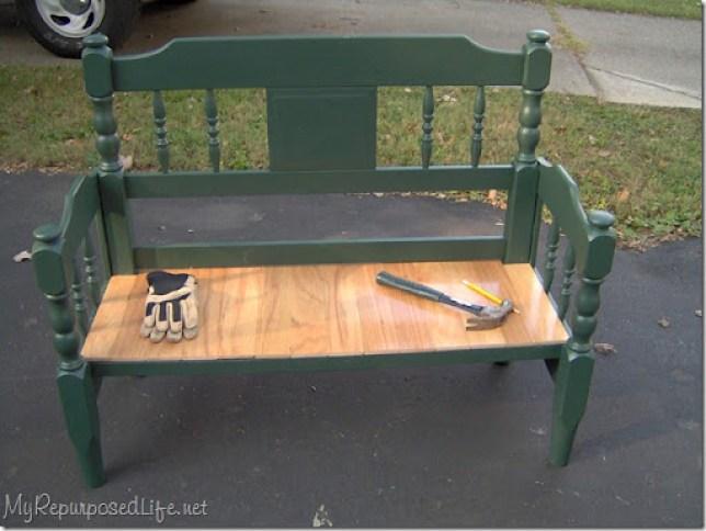 twin headboard bench