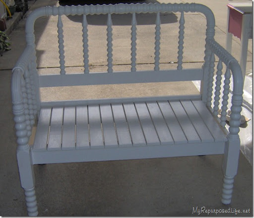 twin spool bed bench