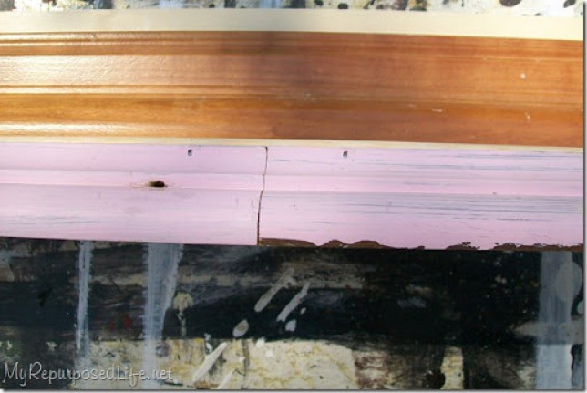 joining crown molding pieces for shelf