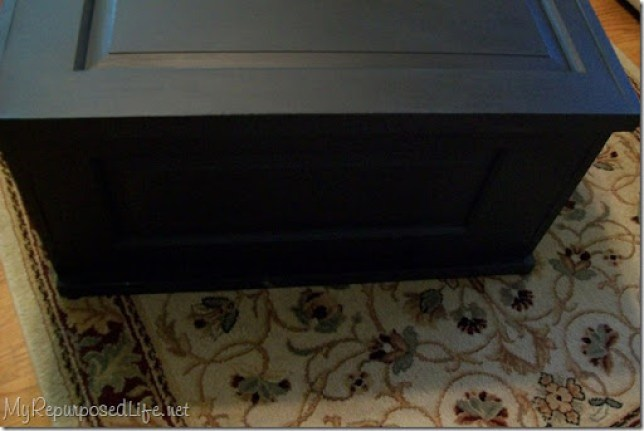 black blanket chest