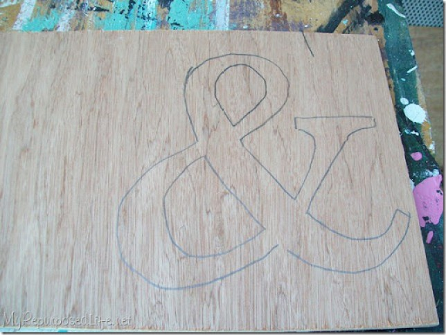 cut an ampersand out of plywood