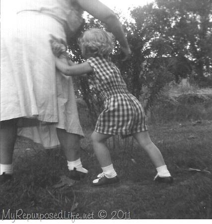 Norma Gail pushing Nana