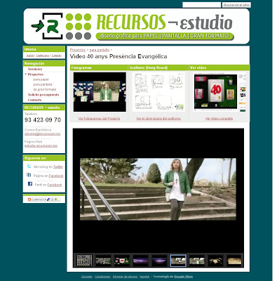 Gadget de presentación web de fotografías para Google Sites