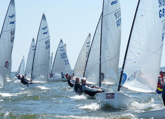Sailing Finn Class Sailboats
