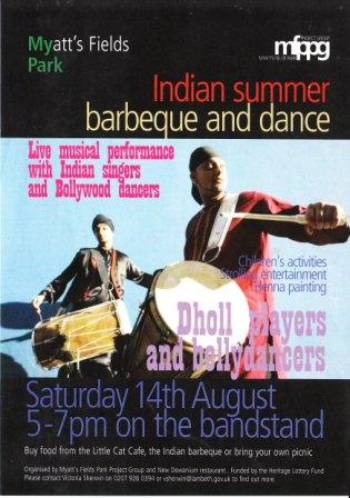 Indian barbecue flyer