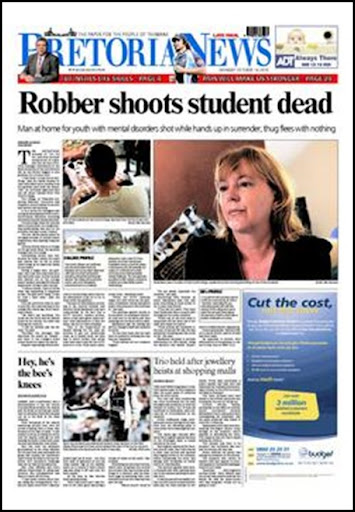 Viva Youth College white student shot dead PRetoria News