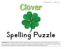 Clover Spelling Puzzle-1
