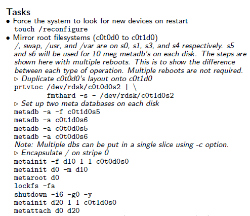 Solarix Linux Cheat Sheet