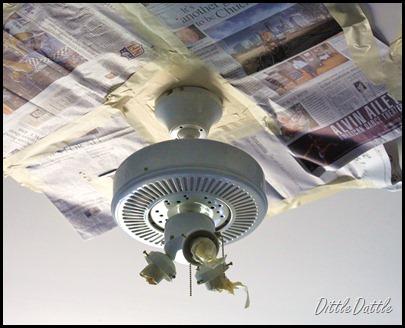 Remodelaholic fan tastic ceiling fan face lift guest for Ceiling fan motor screws