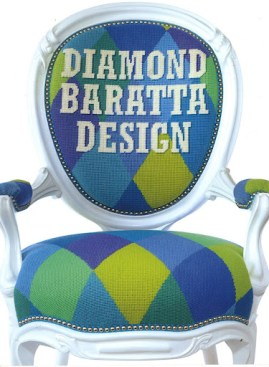 The diamond pattern is an obvious choice given the design team's name and color is their calling card.