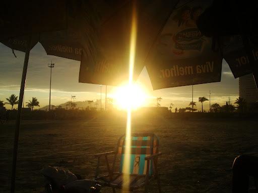 Pôr do sol após muitas cervejas