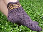 Purple Mountain Slipper Socks
