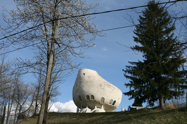 Weird House in Alps