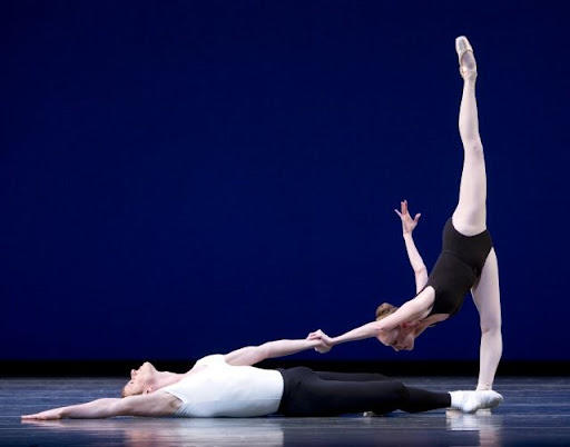PNBs Olivier Weavers and Louise Nadeau in Agon. Photo: Angela Sterling / PNB © Source: ArtsPlace