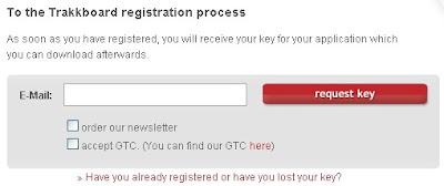 TRakkboard key request