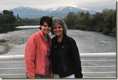 me and mom on bridge