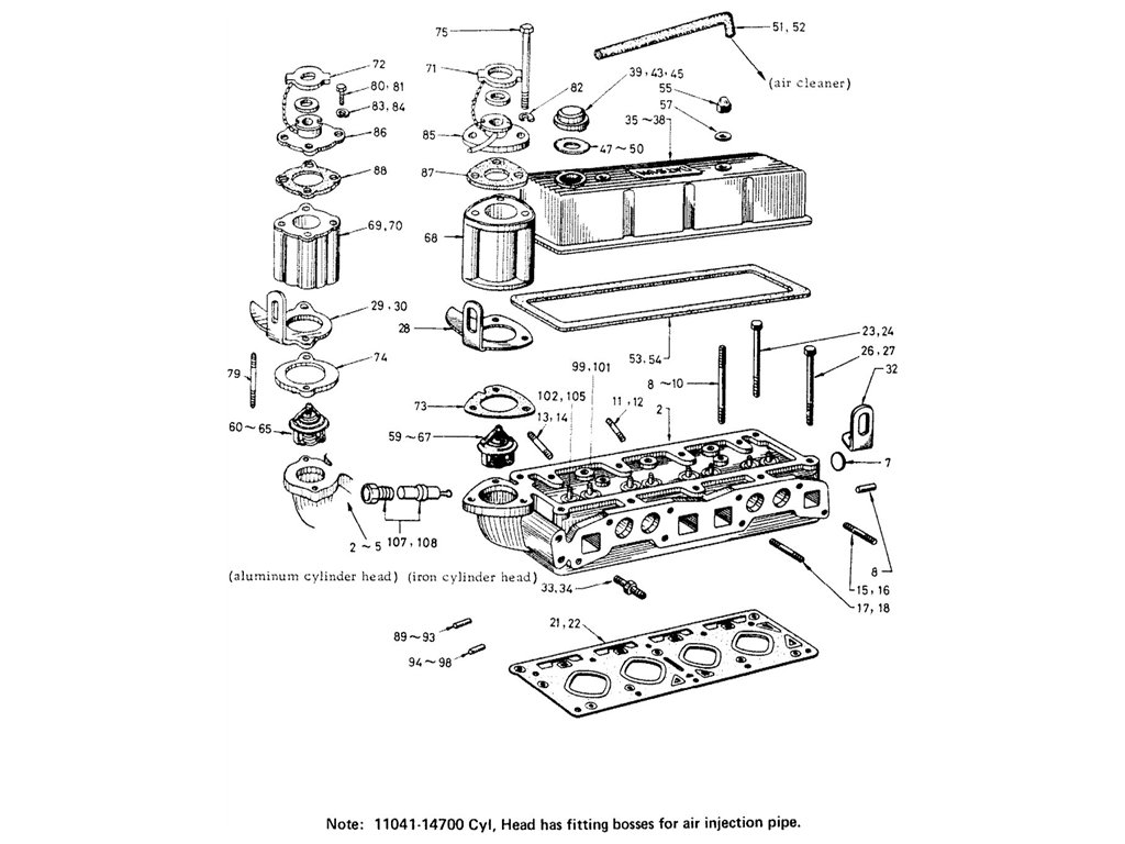 Datsun Fairlady R16 Cylinder Head