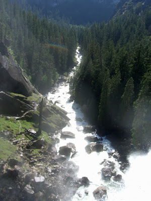 Looking back down the canyon from the top of Vernal Falls